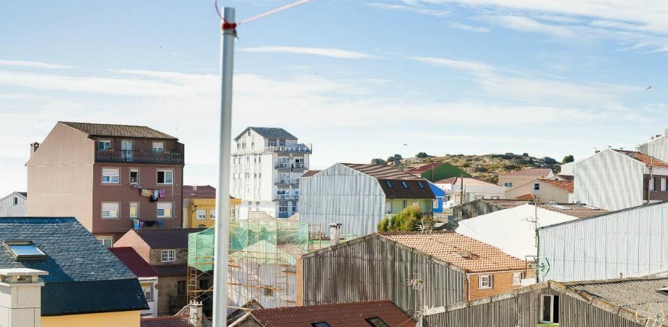 Vista panorámica de Muxía dende o terraza do Albergue Arribada